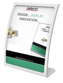 Curved Front Sign/Menu Holder, A5 White 2305W