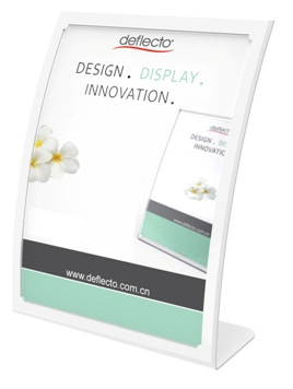 Curved Front Sign/Menu Holder, A6 White 2306W