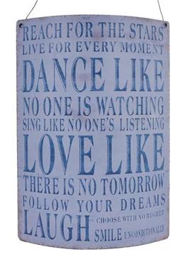 Curved Plaque - Dance, Love, Laugh