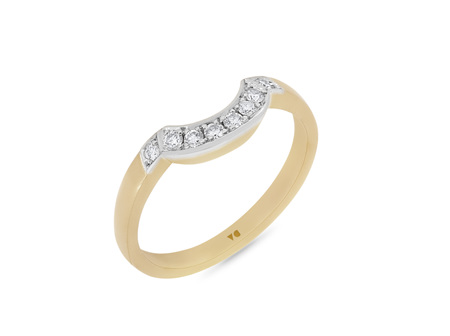 Curved Shaped Diamond Wedding Ring