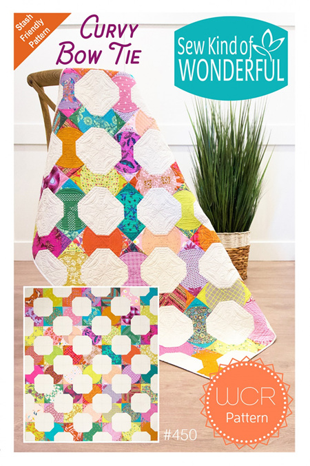 Curvy Bow Tie Quilt Pattern from Sew Kind of Wonderful