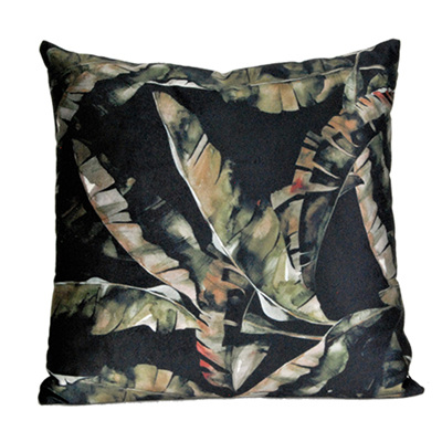 Cushion - Black & Green