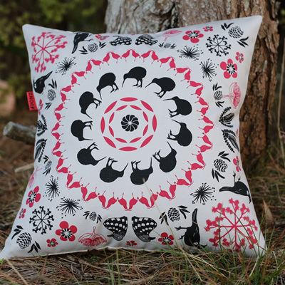 'Iconic NZ' Cushion by Ali Davies