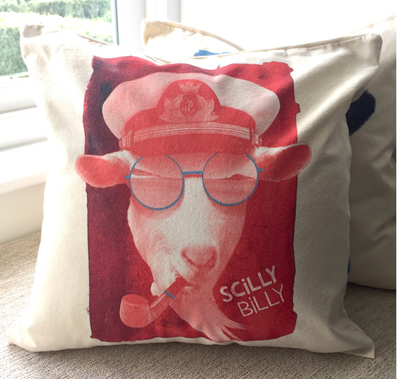 Cushion Cover - Red Billy