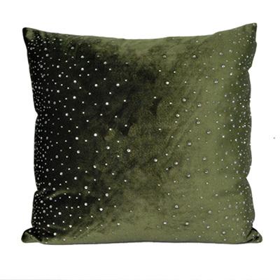 Cushion - Velvet Olive Green