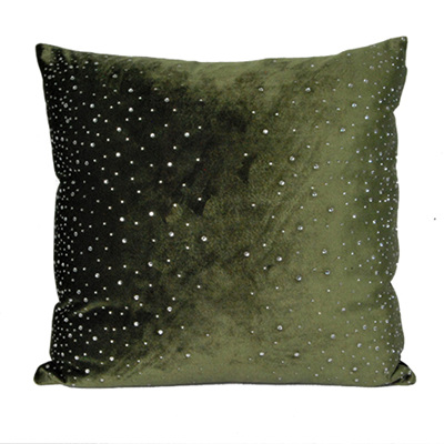 Cushion - Velvet Olive Green
