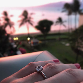 custom design diamond engagement ring Wellington jewellers The Village Goldsmith