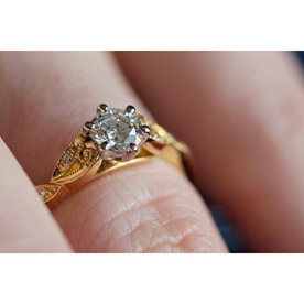 custom design filigree engagement ring