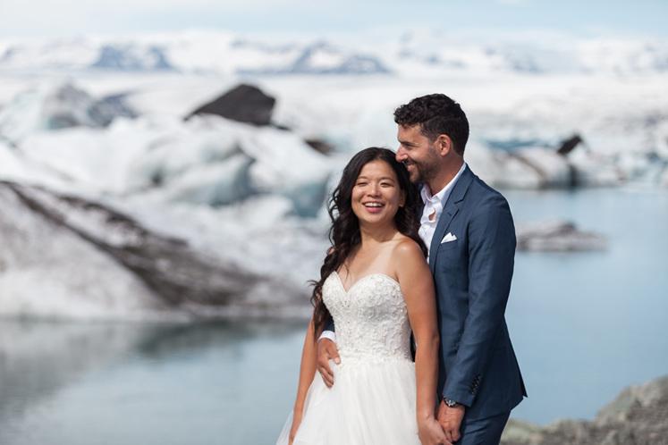 custom designed engagement ring inspired by Icelandic icebergs