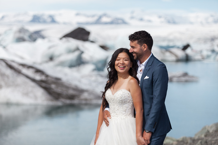 custom designed engagement ring inspired by Icelandic icebergs