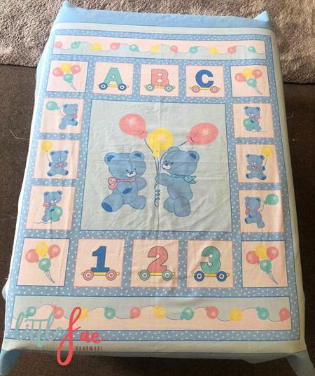 Custom Made Blue Bears Blanket
