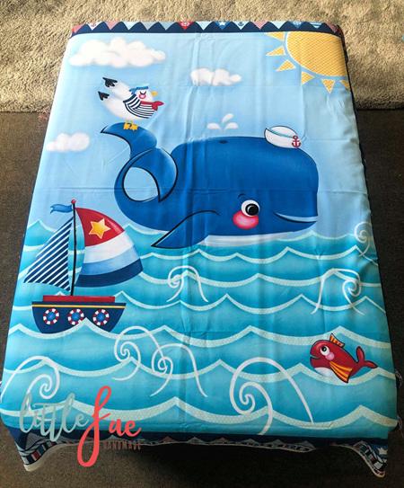 Custom Made Blue Whale Blanket