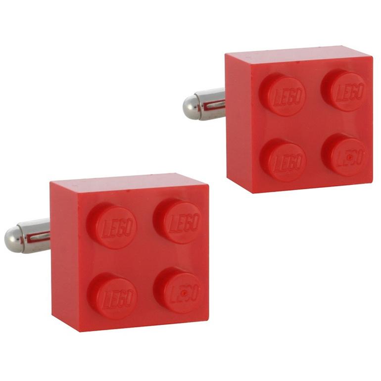 Custom made cufflinks using toy building bricks