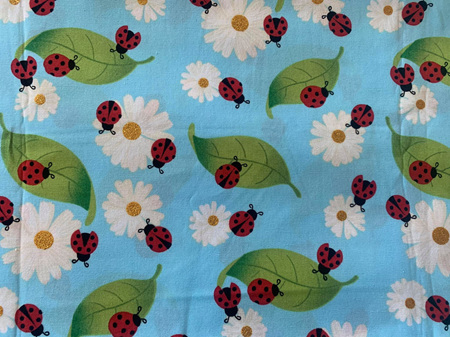 Custom Made Doll Bed Blue Ladybug