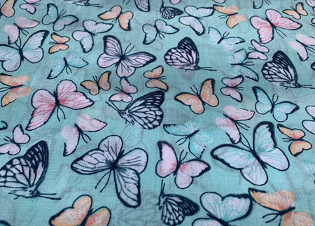 Custom Made Doll Bed Butterfly Blue 2