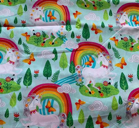 Custom Made Doll Bed Unicorn Rainbow