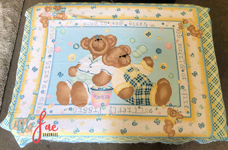 Custom Made Little Brown Bear Blanket