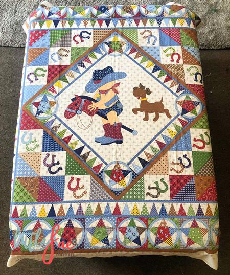 Custom Made Little Cowboy Blanket