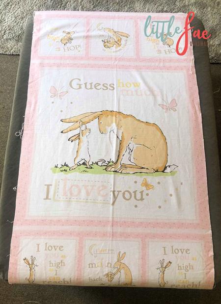 Custom Made Peter Rabbit Blanket
