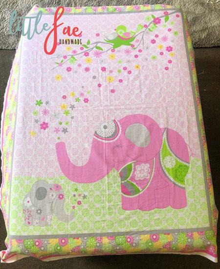 Custom Made Pink Elephant Blanket