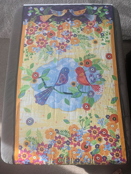 Custom Made Pretty Birds Blanket