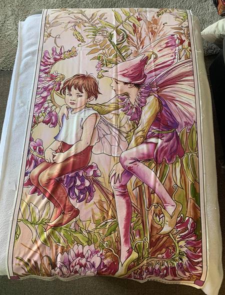 Custom Made Purple Fairy Blanket