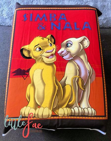 Custom Made Simba & Nala  Blanket