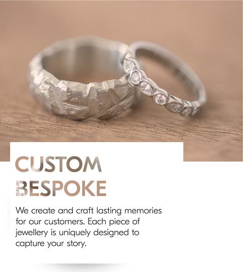 Custom Mens and Ladies Wedding Rings
