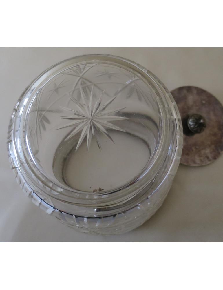 Cut glass biscuit barrel