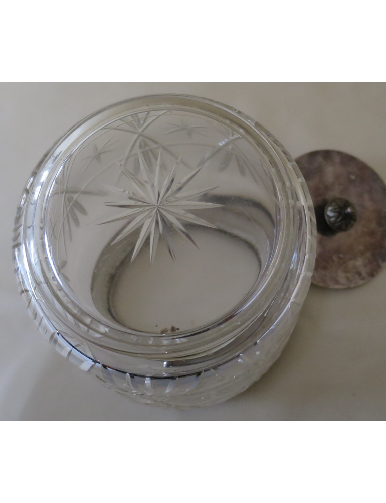 Cut glass biscuit barrel