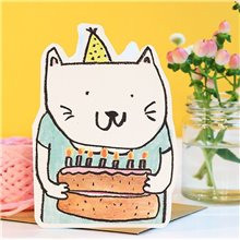 cut out cat cake birthday