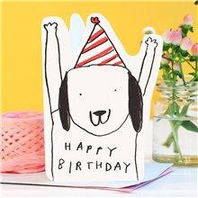 cut out dog hat birthday