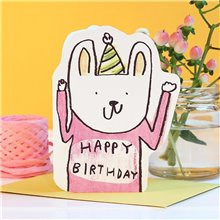 Cut out rabbit hat birthday
