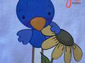 Cute Blue Bird Baby Bodysuit