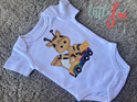 Cute Giraffe Baby Bodysuit