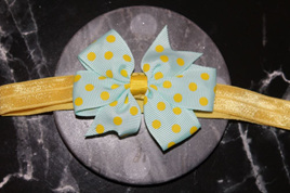 Cute  Green  & Yellow Spotted Baby/Preschooler Hairband