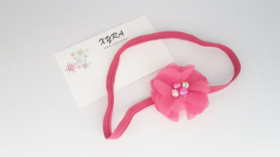 Cute Headband for Babies with flower accents