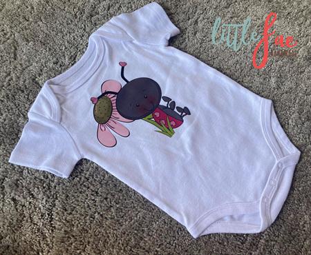 Cute Lady Bug Baby Bodysuit