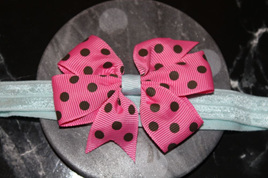 Cute  Pink  & Blue Spotted Baby/Preschooler Hairband