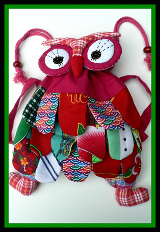 """Cute Pink Owl Backpack"""