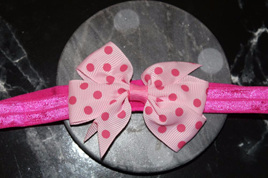 Cute  Pink   Spotted Baby/Preschooler Hairband