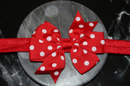 Cute  Red  & White Spotted Baby/Preschooler Hairband