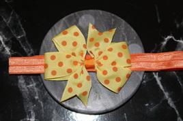 Cute  Yellow  & Orange Spotted Baby/Preschooler Hairband