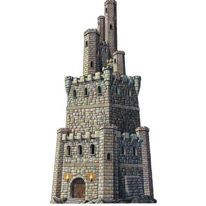 Cutout Jointed Castle Tower