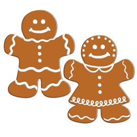 Cutout Large Gingerbread Men
