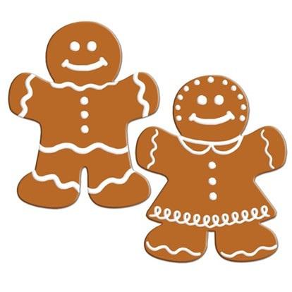 Cutout Large Gingerbread Men