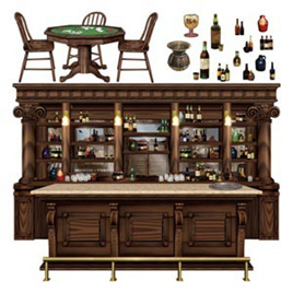 Cutouts props - saloon bar scene