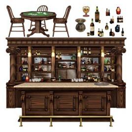Cutouts props - saloon bar scene