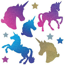 Cutouts unicorn holographic assorted