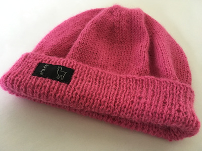 Cyclamin Knitted Hat 4 Ply 100% Alpaca